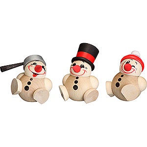 Kleine Figuren & Miniaturen Kugelfiguren (Seiffener Vk.) Kugelfiguren Cool Man - 3-tlg. - 6 cm