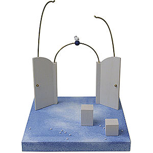 Weihnachtsengel Günter Reichel Schutzengel Kulisse 'Vor dem Himmelstor' - 28 cm