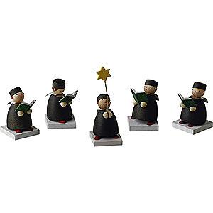 Weihnachtsengel Günter Reichel Schutzengel Kurrende 5-teilig - 3,5 cm