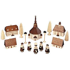 Kleine Figuren & Miniaturen Kurrende Kurrende Seiffener Dorf - 12 cm