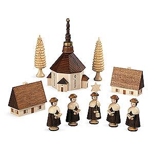 Kleine Figuren & Miniaturen Kurrende Kurrende Seiffener Kirche - 12 cm