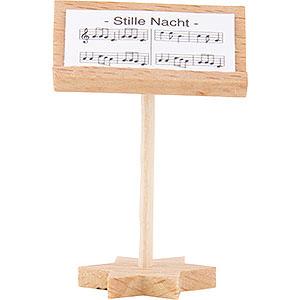 Weihnachtsengel Kurzrockengel (Blank) Kurzrockengel Dirigentenpult, natur - 4 cm