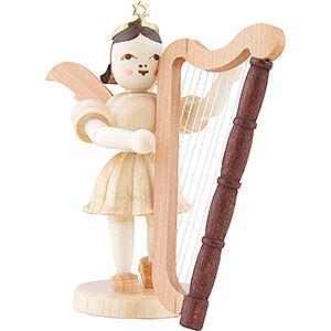 Weihnachtsengel Kurzrockengel (Blank) Kurzrockengel Harfe, natur - 6,6 cm