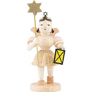 Weihnachtsengel Kurzrockengel (Blank) Kurzrockengel Laterne / Stern, natur - 6,6 cm