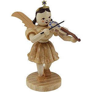 Weihnachtsengel Kurzrockengel (Blank) Kurzrockengel Violine mit SWAROVSKI ELEMENTS, natur - 6,6 cm
