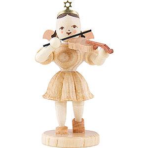 Weihnachtsengel Kurzrockengel (Blank) Kurzrockengel Violine, natur - 6,6 cm