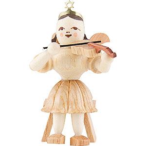 Weihnachtsengel Kurzrockengel (Blank) Kurzrockengel Violine sitzend, natur - 6,6 cm