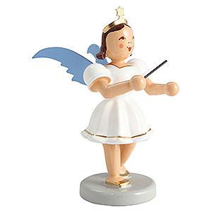 Weihnachtsengel Kurzrockengel farbig (Blank) Kurzrockengel farbig Dirigent - 6,6 cm