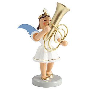 Weihnachtsengel Kurzrockengel farbig (Blank) Kurzrockengel farbig Tuba - 6,6 cm