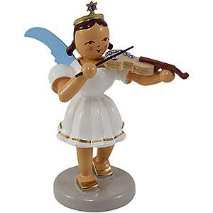 Weihnachtsengel Kurzrockengel farbig (Blank) Kurzrockengel farbig Violine mit SWAROVSKI ELEMENTS - 6,6 cm