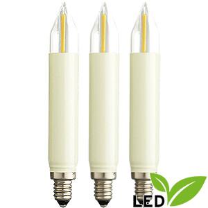 Lichterwelt Ersatzlampen LED-Kleinschaftkerze Filament - Sockel E10 - 12V
