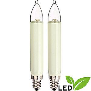 Lichterwelt Ersatzlampen LED-Kleinschaftkerze - Sockel E10 - warmweiß - 0,1-0,3W