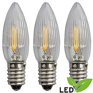 Lichterwelt Ersatzlampen LED-Riffelkerze Filament - Sockel E10 - 16V