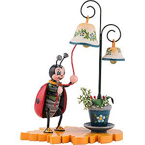 Small Figures & Ornaments Hubrig Beetles Ladybug with Chimes - 8 cm / 3 inch