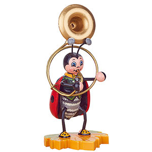 Small Figures & Ornaments Animals Beetles Ladybug with Sousaphone - 8 cm / 3 inch