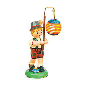 Small Figures & Ornaments Hubrig Lampion Kids Lampion Child Boy with Ball Lantern - 8 cm / 3 inch