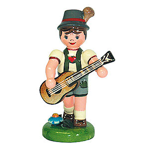 Small Figures & Ornaments Hubrig Lampion Kids Lampion Child Boy with Guitar - 8 cm / 3 inch