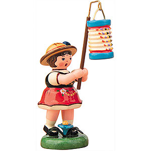 Small Figures & Ornaments Hubrig Lampion Kids Lampion Girl with Lantern- 8 cm / 3 inch