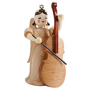 Weihnachtsengel Langrockengel (Blank) Langrockengel mit Bass, natur - 6,6 cm