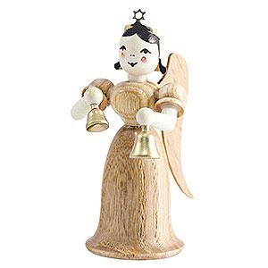 Weihnachtsengel Langrockengel (Blank) Langrockengel mit Glocken, natur - 6,6 cm