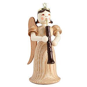 Weihnachtsengel Langrockengel (Blank) Langrockengel mit Oboe, natur - 6,6 cm
