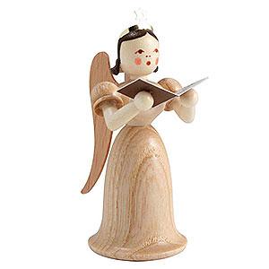 Weihnachtsengel Langrockengel (Blank) Langrockengel mit Sänger, natur - 6,6 cm
