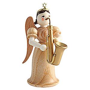 Weihnachtsengel Langrockengel (Blank) Langrockengel mit Saxophon, natur - 6,6 cm