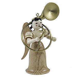 Weihnachtsengel Langrockengel (Blank) Langrockengel mit Sousaphon, natur - 6,6 cm