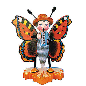 Small Figures & Ornaments Animals Beetles Large Tortoiseshell Butterfly Melodica - 8 cm / 3 inch