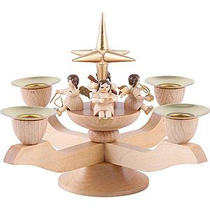 Lichterwelt Kerzenhalter Engel Leuchter mit Engeln - gold - 12 cm