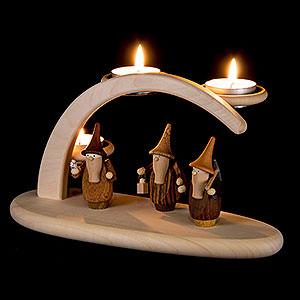 Schwibbögen Alle Schwibbögen Leuchterbogen mit Gnomen - 25x13x10 cm