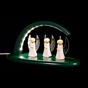 Schwibbögen Alle Schwibbögen Leuchterbogen mit LED - Engel - grün - 24x13 cm