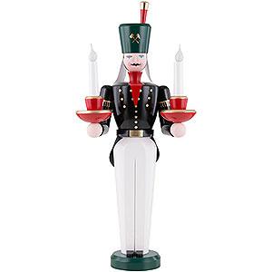 Weihnachtsengel Engel und Bergmann Lichterbergmann farbig, elektrisch beleuchtet - 49 cm
