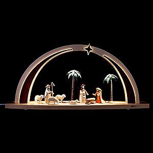 Schwibbögen Alle Schwibbögen Lichterbogen Krippe LED Beleuchtung - 60x25x11 cm