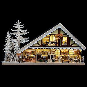 Lichterwelt Lichterhäuser Lichterhaus Backstube mit Raureif - 70x38 cm