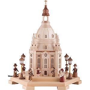 Lichterwelt Lichterhäuser Lichterhaus Frauenkirche Dresden 120V - 24x21x28 cm