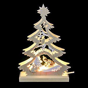 Lichterwelt Lichterspitzen Lichterspitze Mini-Baum Rodler - 23,5x15,5x4,5 cm