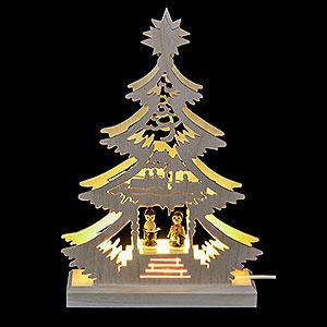 Lichterwelt Lichterspitzen Lichterspitze Mini-Baum Weihnachtssänger - LED -23,5x15,5x4,5 cm