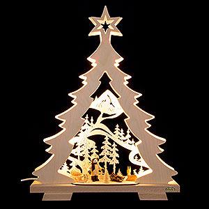 Lichterwelt Lichterspitzen Lichterspitze Tanne Waldspaziergang, LED - 32x43x7,5 cm