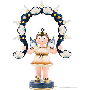 Angels Angel & Miner Light Angel with Light Arch - 53 cm / 21 inch