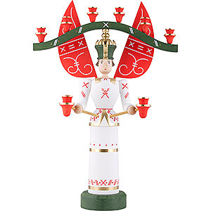 Angels Angel & Miner Light Angel with Yoke, Glazed - 70 cm / 27.5 inch