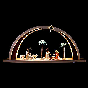 Candle Arches All Candle Arches Light Arch - Nativity Scene - 60x25x11 cm / 23.6x9.8x4.3 inch