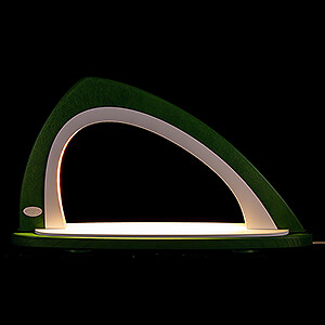 Candle Arches All Candle Arches Light Arch without Figurines - Asymmetrical Green/White - 52x29,7 cm / 20.5x11.7 inch