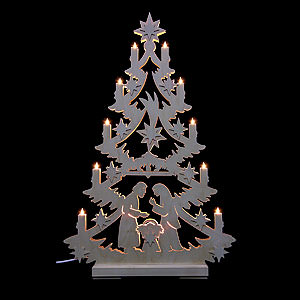 World of Light Light Triangles Light Triangle - Christmas Tree - 70x46x5,5 cm / 27x18x2 inch