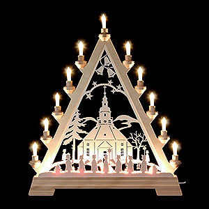 World of Light Light Triangles Light Triangle - Church of Seiffen - 56 cm/22 inch