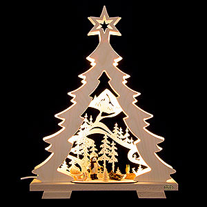 World of Light Light Triangles Light Triangle - Fir Tree 'A Walk in the Woods' LED - 32x43x7,5 cm / 12.6x17x3 inch