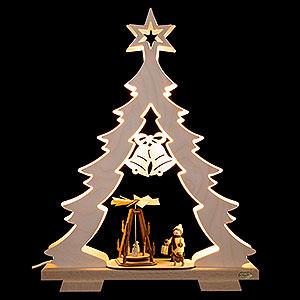 World of Light Light Triangles Light Triangle - Fir Tree Advent Idyll, LED - 32x43x7,5 cm / 12.6x17x3 inch