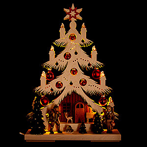 World of Light Light Triangles Light Triangle - Fir Tree - Forest People  - 32x44 cm / 12.6x17.3 inch