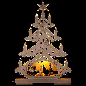 World of Light Light Triangles Light Triangle - Fir Tree with Carolers - 32x44 cm / 12.6x17.3 inch