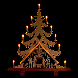 World of Light Light Triangles Light Triangle - Fir Tree with Miners - 76x86 cm / 29.9x33.9 inch